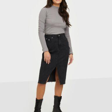 Calvin Klein Jeans High Rise Midi Skirt Midikjolar