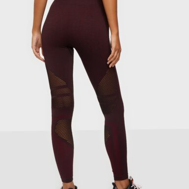 ICANIWILL Queen Mesh Tights Träningstights Burgundy