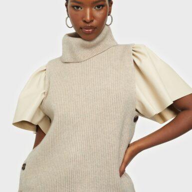 Co'couture Row Button Vest Stickade tröjor
