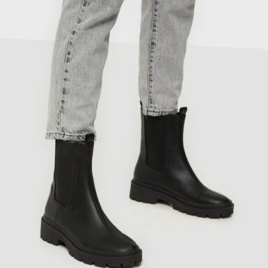NLY Shoes High Ankle Chelsea Boot Flat Boots Svart