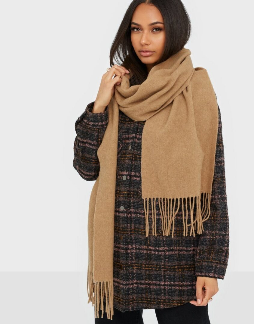 Dagmar Wool scarf Halsdukar & Scarves Camel