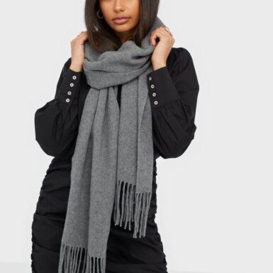 Dagmar Wool scarf Halsdukar & Scarves Grey Melange
