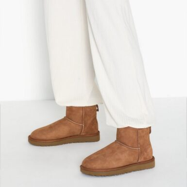 UGG W Classic Mini II Flat Boots Chestnut