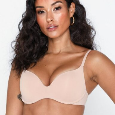Wonderbra Wonderbra T-shirt Wireless Bra Bandeau & Soft-Bra Beige