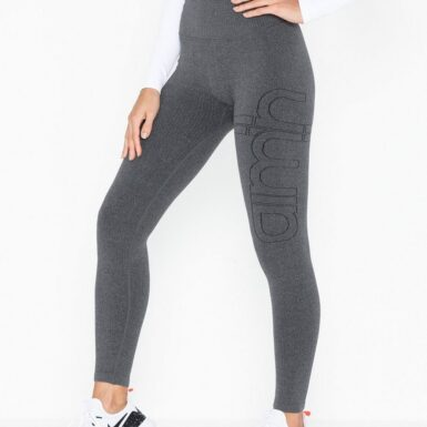 Aim'n Ribbed Seamless Tights Träningstights Grey