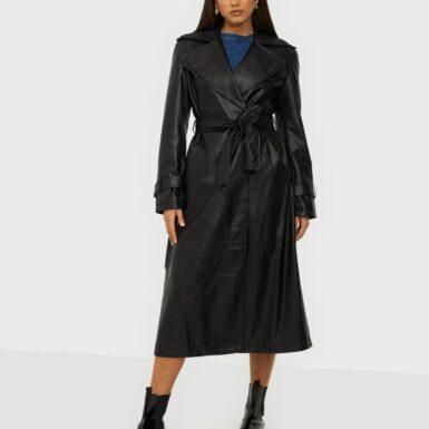 Gina Tricot Nora Pu Coat Trenchcoats