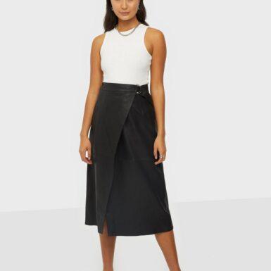 Y.A.S Yasmora Hw Midi Leather Skirt Midikjolar