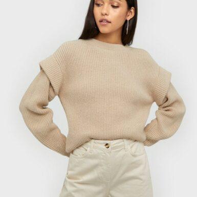 NORR Abby knit top Stickade tröjor