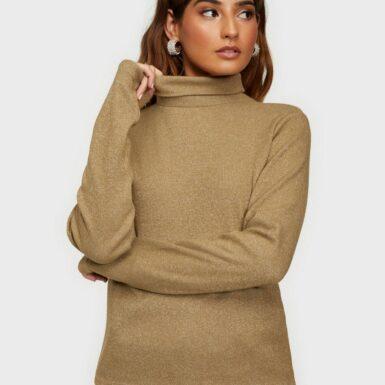 Noisy May Nmmerve L/S High Neck Top Stickade tröjor