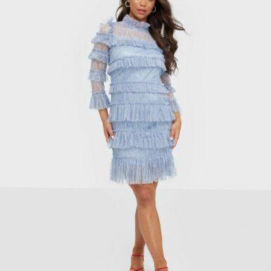 By Malina Carmine mini dress Fodralklänningar Lavender Blue