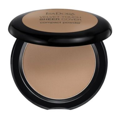 Isadora Velvet Touch Sheer Cover Compact Powder Puder Neutral Almond